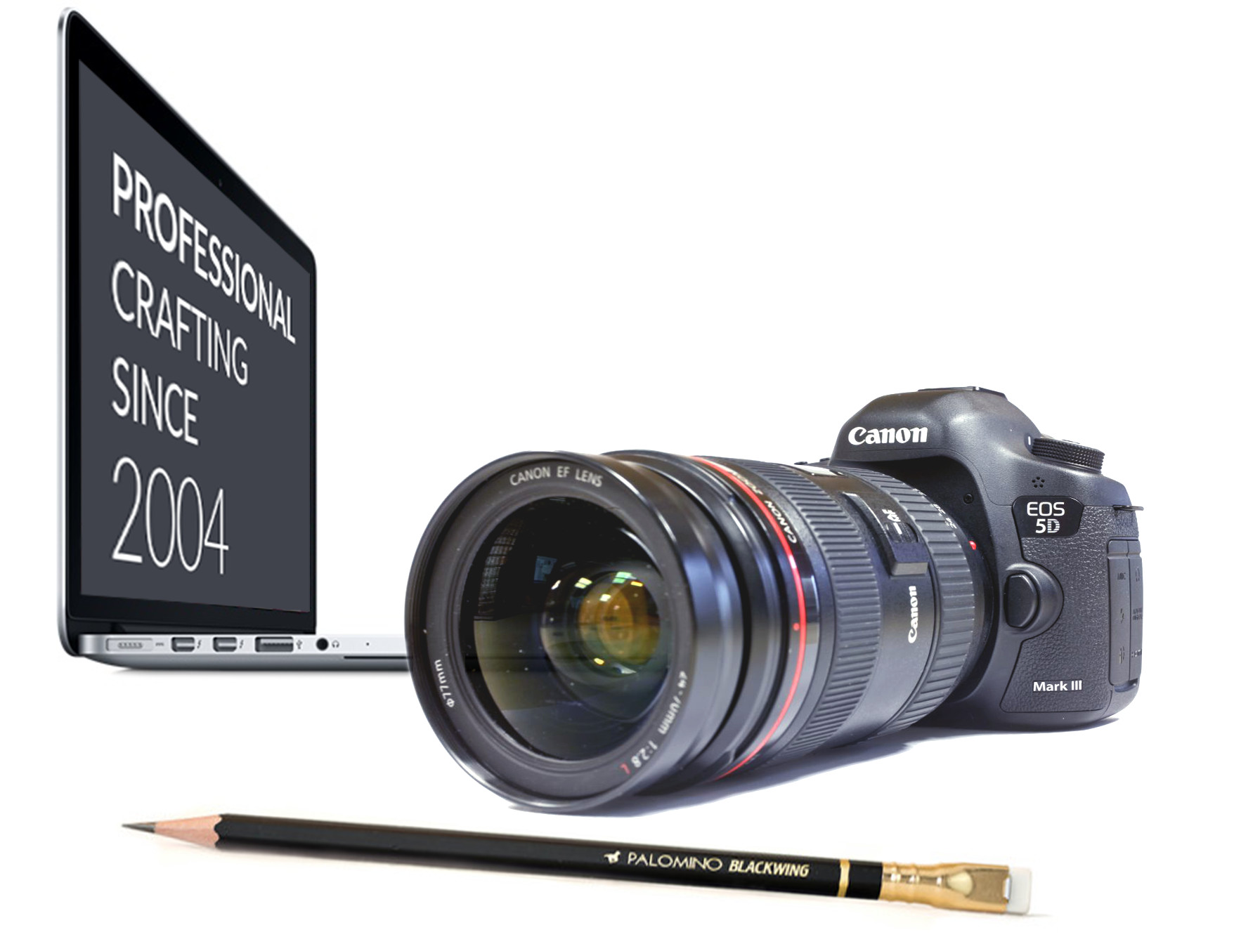 Macbook Pro, Canon 5d, Blackwing Pencil